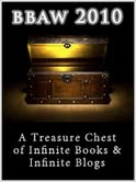 Partially open treasure chest.