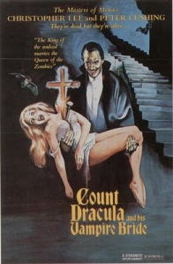 Dracula holding a blond woman.