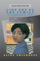 Black woman in kitchen.