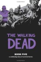 Zombies surrounding a purple person.