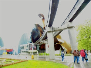 Outside the EMP Museum