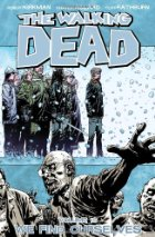 Blueish snowy walking dead cover with zombies.