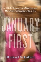 "Blonde girl running with the words ""January First"" imposed over her."