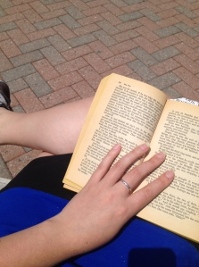 Spring means I get to read outside in the sun for my lunch break!