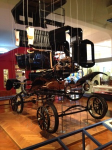 A disassembled Model T at the Henry Ford Museum.