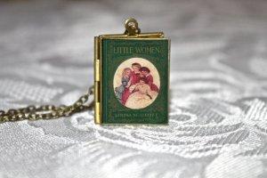 book locket made out of little women