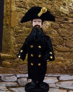 Handcrafted statue of Javert