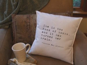 book quote pillow covers