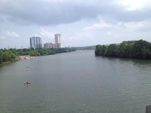 View of the Colorado River and Austin, Texas, where I went this month for work.