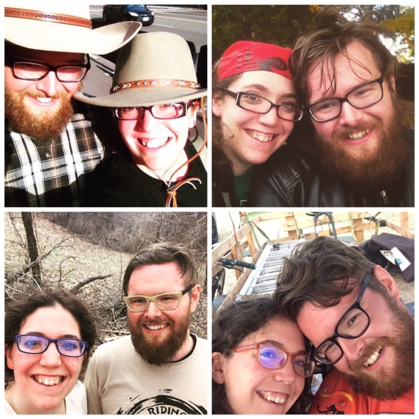 A collection of selfies from our first year of marriage.