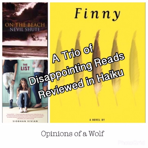 A Second Trio of Disappointing Reads Reviewed in Haiku