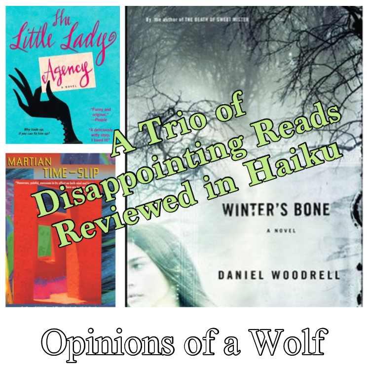 A Trio of Disappointing Reads Reviewed in Haiku