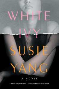 Book cover for White Ivy, featuring a Chinese woman from the nose down.