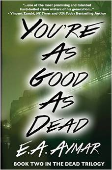 Digital image of a book cover. A glowing green shows what appears to be a bridge. The book title and author name appear over it.